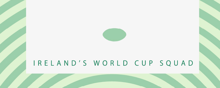 Ireland Rugby World Cup Squad Infographic